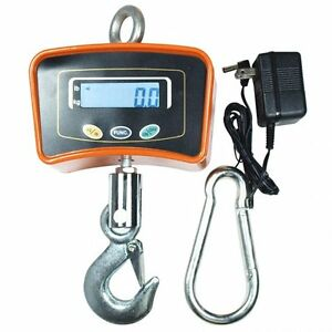 500 Kg 1100 Lbs Digital Crane Scale Heavy Duty Industrial Hanging Scale Weight