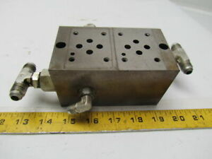 Vickers Dgms 3 2e 10 s 2 Station Hydraulic Subplate Port Size Sae 3 4 16 Unf 2b