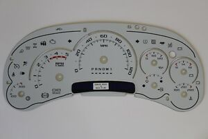 06 Custom Silverado Duramax Diesel Escalade White Gauge Face Cluster Inlay Only