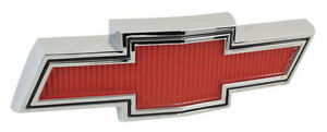 1967 1968 Chevy Pick Up Truck Hood Grille Emblem Bowtie Red