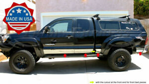 Fit 05 2015 Toyota Tacoma Extended Cab Short Bed Chrome Rocker Panel Trim W f