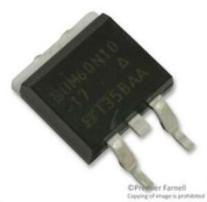 10x Vishay Siliconix Sum60n10 17 e3 Mosfet N Channel 100v 60a To 263 3