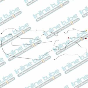1968 69 Plymouth Gtx Complete Power Drum Brake Line Kit Set 8 3 4 Axle Stainless