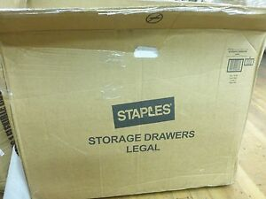 Staples Ez Fold File Drawers Legal Size Case Of 6 741190