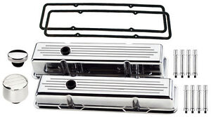 Billet Specialties Polished Tall Valve Covers milled breather oil Cap hex sbc