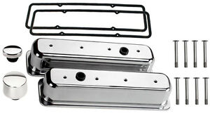 Billet Specialties Polished Aluminum Tall Valve Covers sbc Center Bolt breather