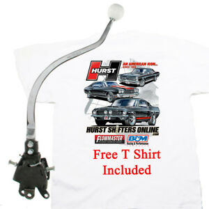 Hurst 3916789 Comp 4 Speed Shifter 1965 70 Mopar B Body Non Console Free T Shirt