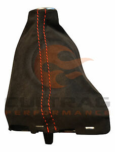 2014 2019 C7 Corvette Genuine Gm Manual Suede Shift Boot Torch Red Stitching