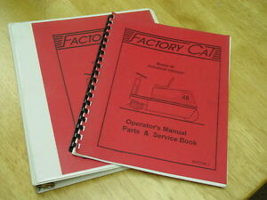 Factory Cat Industrial Sweeper Model 48 Parts operation service Manuals 1994 95