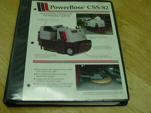 Powerboss Industrial Sweeper scubber Armadillo Model Css 82 Maint troubleshoot