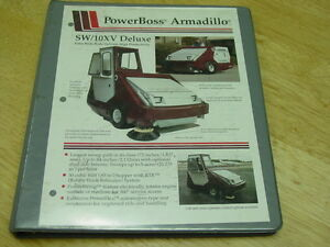 Powerboss Industrial Sweeper scubber Armadillo Model Sw 10xv 1995 Parts Manual