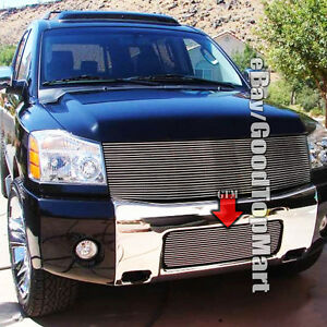 For Nissan 2004 2007 Armada 04 2014 Titan Bumper Grille Replacement 1pc Polish