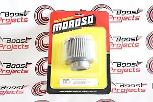 Moroso Valve Cover Filtered Breather Non hooded Style Clamp on Type 68815