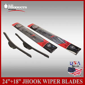 All Season 24 18 Premium Jhook Bracketless Windshield Wiper Blades 2 Pieces