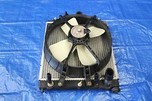 1999 Honda Civic Coupe Ex Oem Factory Radiator Cooling Fan Ek D16y8 Auto 9124