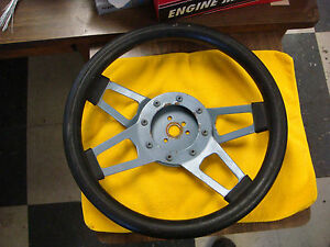 Used Grant Style Steering Wheel 13 1 4 4 Spoke Black Foam Mustang Camaro