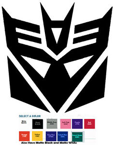 Transformers Decepticon Decal Diecut Sticker Self Adhesive Vinyl