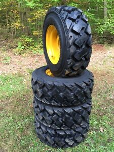 4 12 16 5 Ultra Guard Mx Skid Steer Tires wheels rims For John Deere 14 Ply usa