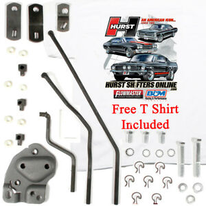Hurst 3733163 Chevelle Gm 4 Speed Install Linkage Kit Early Muncie Free T Shirt