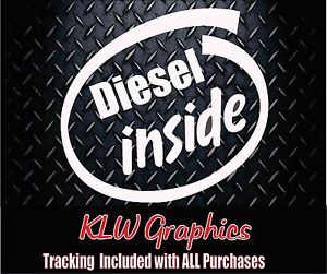 Diesel Inside Vinyl Decal Sticker Stacks Soot Truck Powerstroke 2500 Turbo 150