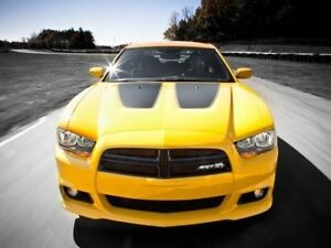 2011 2014 Dodge Charger Outlined Hood Insert Decal Factory Stripe