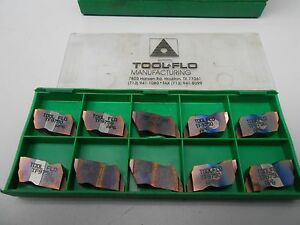 Tool flo Carbide Inserts Tf9750 Ap6 New lot Of 10