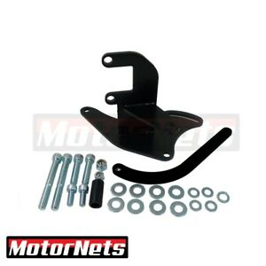 Sb Chevy Alternator Upward High Mounting Bracket Short Water Pump Black Swp Sbc