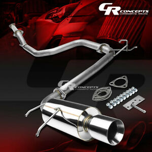 4 Rolled Muffler Tip Catback Exhaust Race System For 90 93 Acura Integra Da Db