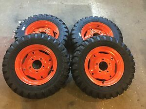 4 5 70 12 Carlisle Trac Chief Skid Steer Tires wheels For Bobcat 310 371