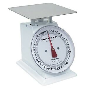 Detecto Top Loading Large Dial Scale 25 Lbs Enamel Finish Kitchen Portions
