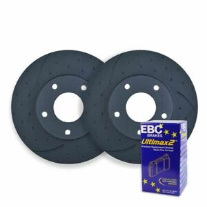 Dimpled Slotted Front Brake Rotors Ebc Pads For Falcon Fg G6e Turbo Rda7934d