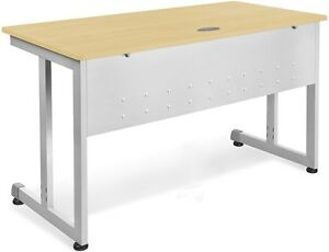 24 D X 72 W Contemporary Modular Desk And Worktable In Maple Finish