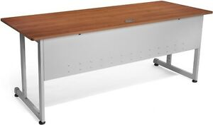 30 D X 72 W Contemporary Modular Desk And Worktable In Cherry Finish