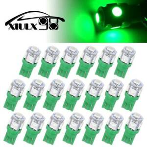 20x Green T10 192 5050 5smd Led Dome Map Dashboard Interior Light Bulbs 168