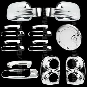 For Jeep Liberty 2002 2007 Chrome Covers Mirrors 4 Door Gas Tail Lights Tailgate