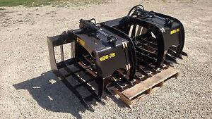 60 Skid Steer Root Rock Grapple Wide Opening High Quality Free Shipping