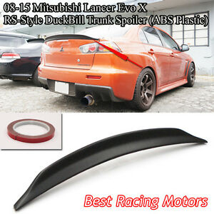 Rs Style Rear Trunk Spoiler Wing abs Fits 08 16 Mitsubishi Lancer Evo 10 X