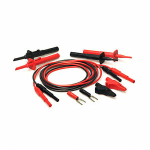 Tpi Tls2000b Shuttered Plug Deluxe Test Lead Kit With Silicone Insulation