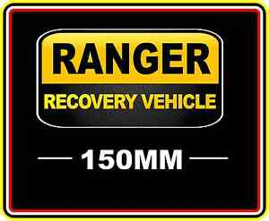 Ford Ranger Recovery Vehicle Sticker Decal 4wd Off Road Truck Funny Bumper