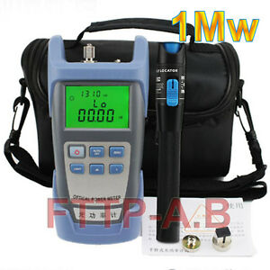 Fiber Optical Power Meter And 1mw 3 5km Visual Fault Locator Cable Tester Bag