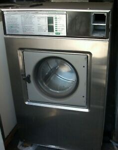 Wascomat Front Load Stainless Steel Washer Coin Op 50lb 3ph Model W 185 Es