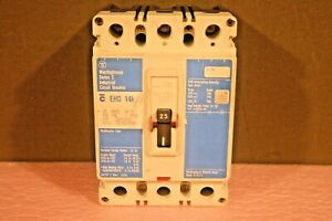 Eaton Westinghouse Ehd3025l Series C F frame Molded Case Circuit Breaker 25a 3p