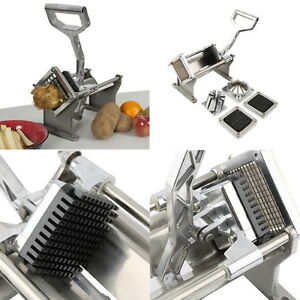 Potato French Fry Fruit Vegetable Cutter Slicer Commercial Quality 4 Blades Ob