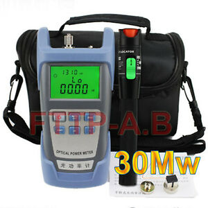 Ftth 30mw 25 30km Visual Fault Locator Cable Tester fiber Optical Power Meter