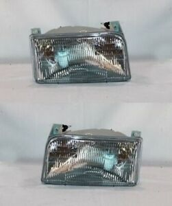 Right And Left Side Headlight Pair For 1992 1998 Ford F Series 9th Generation