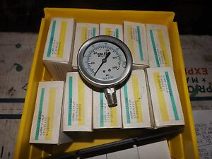 Solar Weston Stainless Pressure Gauge 0 2000 Psi Glycerin Filled Lot Of 5
