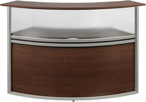 Marque Plexi Reception Station Add on Unit In Cherry Finish Front Desk Station