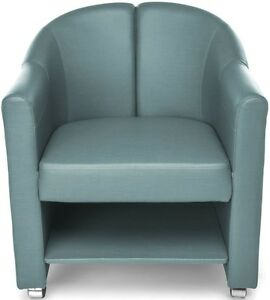 Mobile Club Lounge Chair In Aqua Vinyl With Lower Bottom Storage Lounge Chair