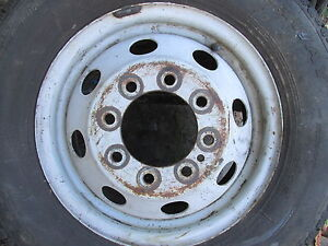 F350 Ford Oem Truck Van Bus Steel 8 Lug 16 X 6 Rim 1988 1997 1 Ton Used Wheel