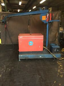 Miller Deltaweld 450s With Boom Cart Wire Feeder And Chiller